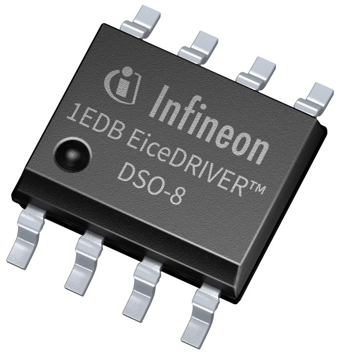 EiceDRIVER™ 1EDB single-channel gate-driver IC family with integrated galvanic isolation in small 150 mil 8-pin DSO package
